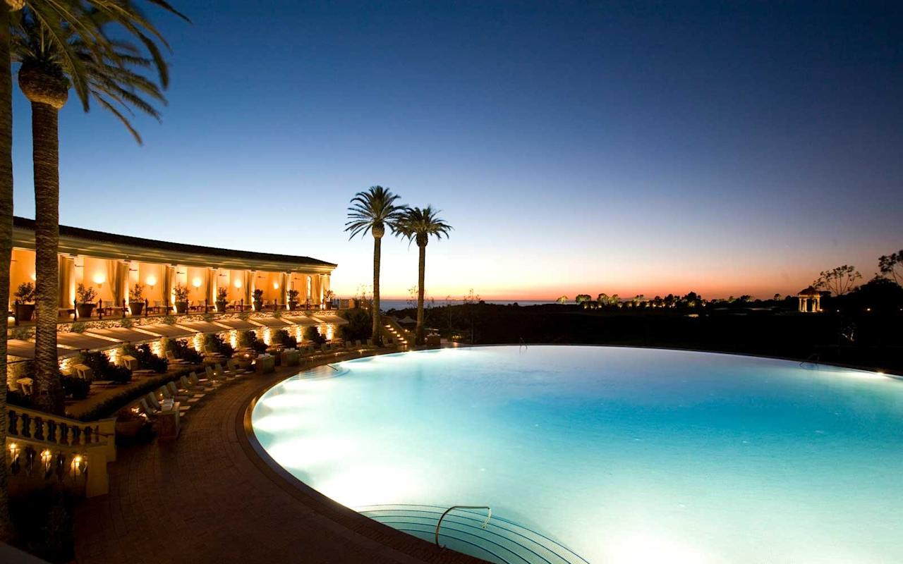 "<p><strong>Why it's cool:</strong> <a href=""https://www.pelicanhill.com/"">The resort's</a> Coliseum Pool is perfectly circular and 136 feet in diameter, making it one of the world's largest round pools. The pool floor is covered with hand-cut blue mosaic tiles, and the pool is surrounded by private cabanas and sunbathing areas. Oh, and it just so happens to overlook the Pacific Ocean.</p>"