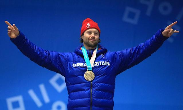 "<span class=""element-image__caption"">Billy Morgan promised he was in bed early after celebrating his bronze, but admitted he was taken there in a shopping trolley.</span> <span class=""element-image__credit"">Photograph: Mike Egerton/PA</span>"
