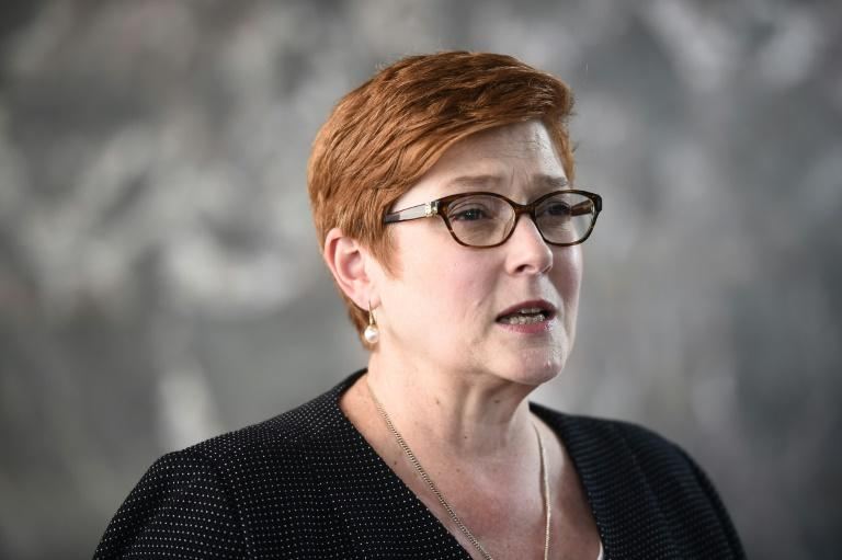 Foreign Minister Marise Payne said Canberra has formally asked China to allow Nadila Wumaier and Lutifeier to come to Australia (AFP Photo/Lillian SUWANRUMPHA)