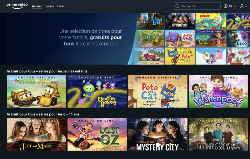 Amazon soutient les parents en offrant des contenus gratuits pour les enfants (Photo : Amazon Prime Video)