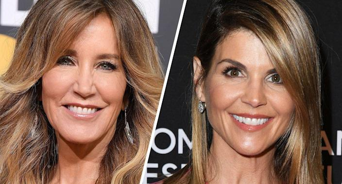 Felicity Huffman and Lori Loughlin. (Photos: Steve Granitz/WireImage/Getty Images, Jon Kopaloff/FilmMagic/Getty Images)