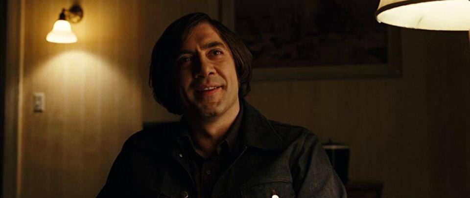<p>Javier Bardem won an Oscar in 2008 for playing the coin-tossing, cattle-gun-carrying villain in this instant Coen Brothers classic. As tough as his kills are, his grisliest moment is when he walks away from a car wreck with an elbow bone jutting out of his skin.</p>