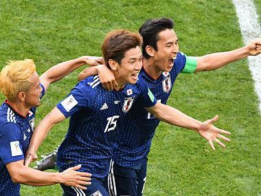 Saransk: Yuya Osako exacted sweet revenge for Japan on Tuesday as the Blue Samurai beat Colombia 2-1, becoming the first Asian side ever to beat a South American team at the World Cup. Osako's 73rd-minute winner meant the Japanese avenged their 4-1 mauling in the group stages of Brazil 2014 as Colombia played with a man down for 86 minutes in Saransk. Japan's forward Yuya Osako (C) celebrates with defender Yuto Nagatomo (L) and midfielder Makoto Hasebe after scoring their second goal. AFP After leaving Brazil without a win four years ago, Japan made a dream start to their Russian campaign even though head coach Akira Nishino was only appointed in April. In an explosive start to the Group H clash, Colombia defender Carlos Sanchez earned the first red card of Russia 2018 with a handball after just four minutes. Japan took a shock lead when Shinji Kagawa netted the resulting penalty before Juan Quintero equalised with a free-kick for Colombia to make it 1-1 at half-time. Brazil 2014 top scorer James Rodriguez came on for the last half-hour after labouring in training with a calf strain but could not pull his side level after Osako's goal. Travelling Colombia fans turned the Mordovia Arena into a sea of yellow, but were soon stunned into silence. When Osako fired in a shot from Japan's first attack, Sanchez blocked the effort with a raised arm. Referee Damir Skomina showed him a straight red card after pointing to the spot without referring to the Video Assistant Referee (VAR). The Colombians bitterly protested but Kagawa drilled home the spot kick to put Japan ahead in the sixth minute. It was the second-fastest red card in World Cup finals history, bettered only by the 52 seconds it took Jose Batista of Uruguay to be sent off against Scotland at Mexico '86. After the dismissal, Colombia poured forward and their captain Radamel Falcao twice went close. Colombia coach Jose Pekerman made a tactical switch on 31 minutes, with Wilmar Barrios replacing Juventus midfielder Juan Cuadrado. The pressure paid off as Quintero's low free-kick flew under Japan's wall and crept inside the post shortly before half-time. The goal was confirmed by goal-line technology. Japan pressed after the break, forcing Colombia goalkeeper David Ospina into a string of saves. To a deafening roar from Colombia fans, Rodriguez came on for Quintero on 58 minutes, just before Barrios earned a yellow card for clattering Kagawa from behind. Japanese pressure paid off when Osako, who was a constant menace to the Colombia defence, leapt highest from a corner and guided his header in off the post with 17 minutes to go. The goal jolted Colombia into life as Rodriguez then Barrios went close at the other end. Bayern Munich star Rodriguez earned a late yellow card for sliding into Japan midfielder Genki Haraguchi. Click here for full coverage of FIFA World Cup 2018 Click here to view the full schedule of FIFA World Cup 2018 Click here to view the Points Table of FIFA World Cup 2018​
