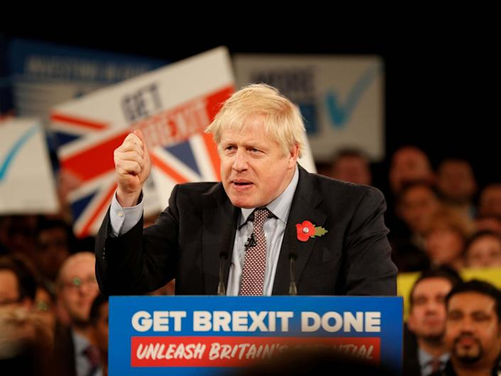 Boris Johnson had claimed he would 'get Brexit done' by January: AFP/Getty