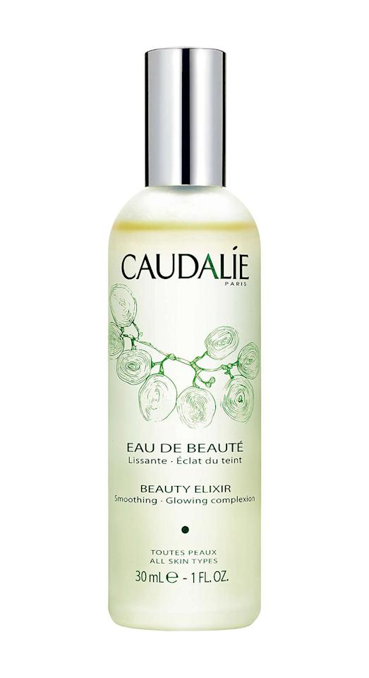 <p>Packed with grapes, rose and rosemary, this spritz is ideal for complexions lacking vitality. It smoothes features, tighten pores, cools skin and smells gorgeous. </p>