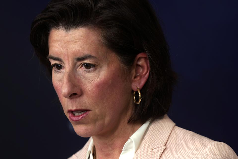 Commerce Secretary Gina Raimondo is among the Biden administration officials the pharmaceutical industry sees as an ally against efforts to lift or water down patent protections. (Photo: Alex Wong/Getty Images)