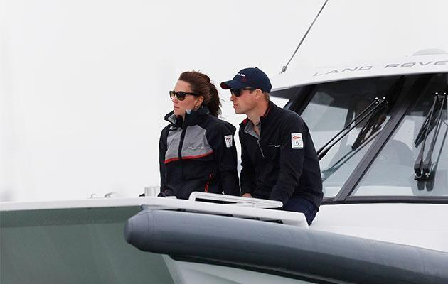The Duke and Duchess of Cambridge attend the America's Cup. Photo: Getty Images