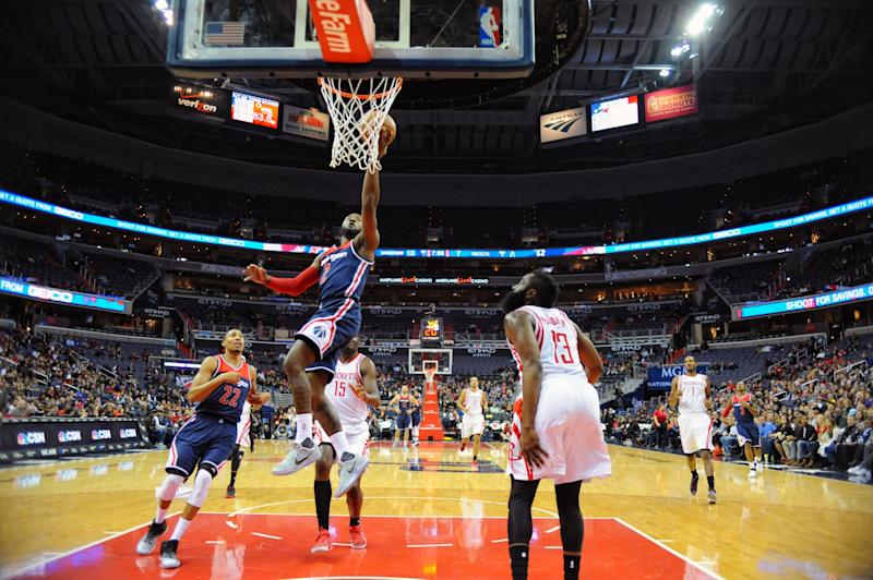 When John Wall and the Wizards get out in transition, they can be awfully tough to stop. (Getty Images)
