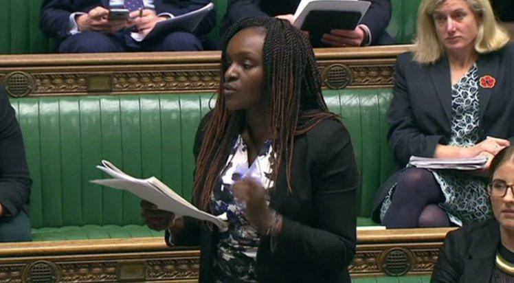 Fiona Onasanya quoted the song in the House of Commons. Copyright: [BBC]