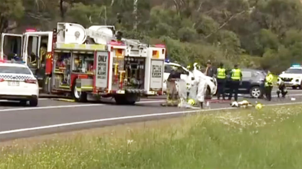 Royce Hart's car accident, pictured here in Hobart.