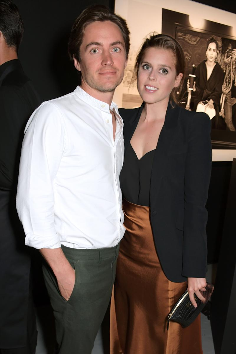 Princess Beatrice of York pictured with her fiance Edoardo Mapelli Mozzi