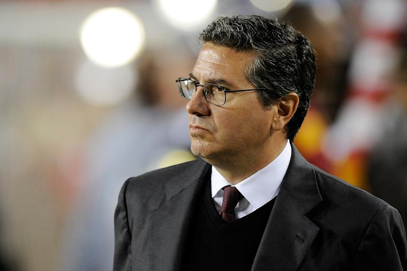 LANDOVER, MD - DECEMBER 03:  Washington Redskins owner Daniel Snyder looks on before a game between the New York Giants and Washington Redskins at FedExField on December 3, 2012 in Landover, Maryland.  (Photo by Patrick McDermott/Getty Images)