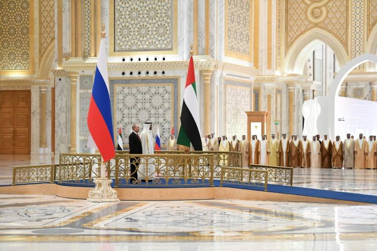 Putin's visit to Abu Dhabi comes a day after a trip to UAE ally Riyadh