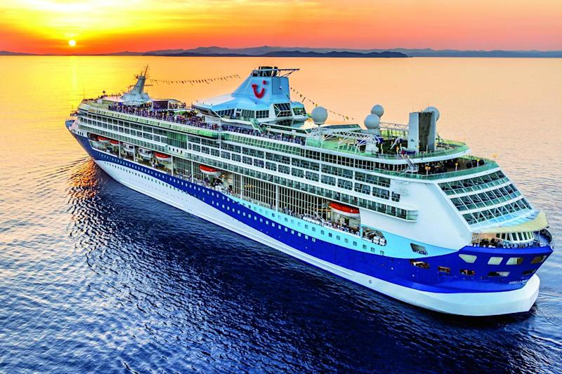 Full steam ahead: average rates on TUI's Marella cruises rose by £8 per night to £137: TUI