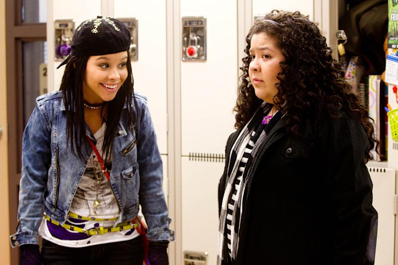 """In this film image released by Pantelion Films, Cierra Ramirez, left, and Raini Rodriguez are shown in a scene from """"Girl in Progress."""" (AP Photo/Pantelion Films, Bob Akester)"""