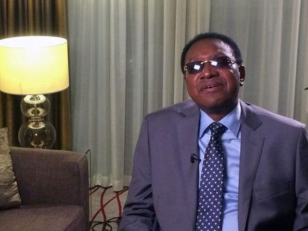 Democratic Republic of Congo Prime Minister Bruno Tshibala poses for a picture during an interview with Reuters  in London