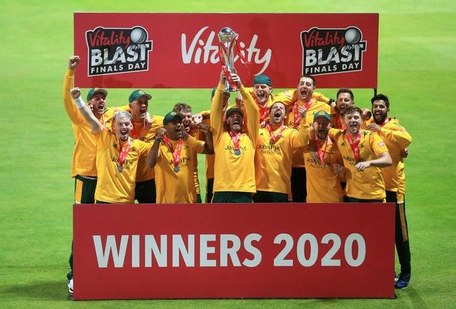 Nottinghamshire won their second T20 crown