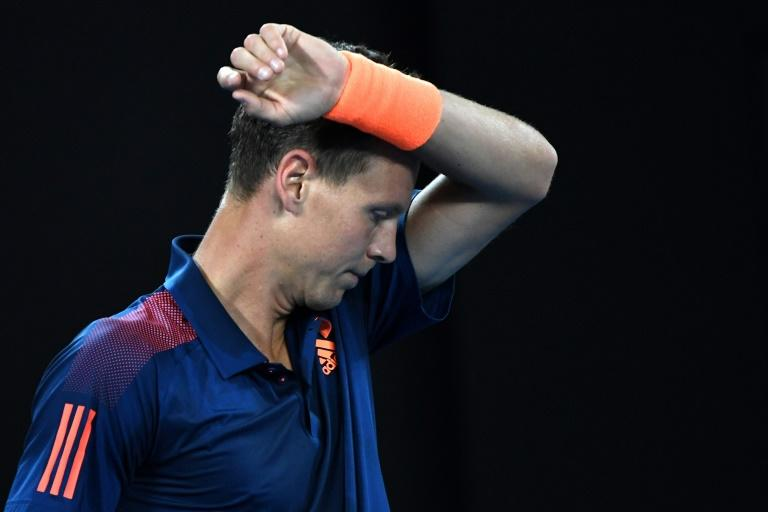Czech Republic's Tomas Berdych sealed a surprisingly difficult 6-4 win over Romanian qualifier Marius Copil at the Rotterdam World Tennis