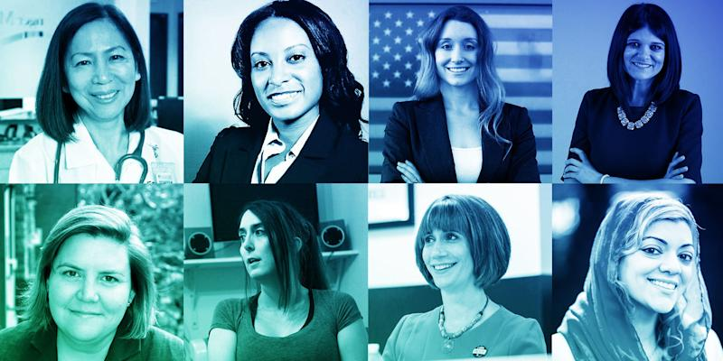 These eight women are among thousands that stepped up after the 2016 election and said they wanted to run for office. (Ji Sub Jeong/HuffPost)