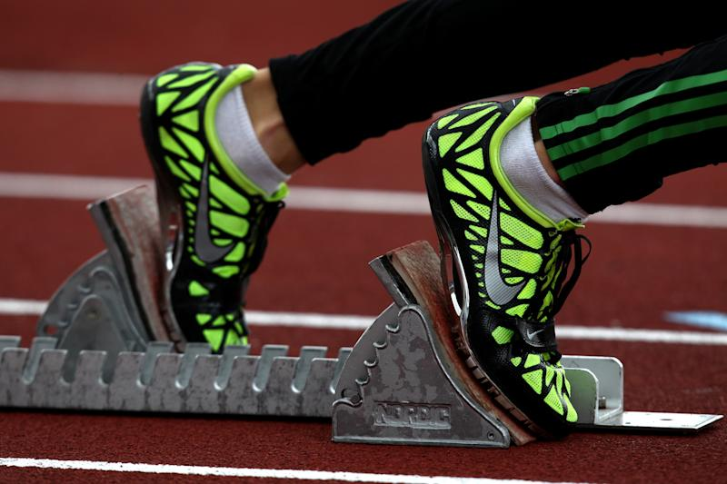 Track and field runner.