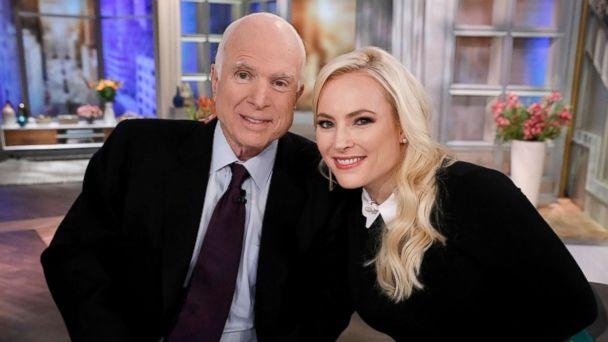 PHOTO: Senator John McCain on 'The View,' with this daugter Meghan on ABC's 'The View,' Oct 23, 2017. (Heidi Gutman/ABC via Getty Images)