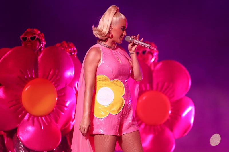 Katy Perry Performs During The ICC Women's T20 Cricket World Cup Final (Cameron Spencer / Getty Images)