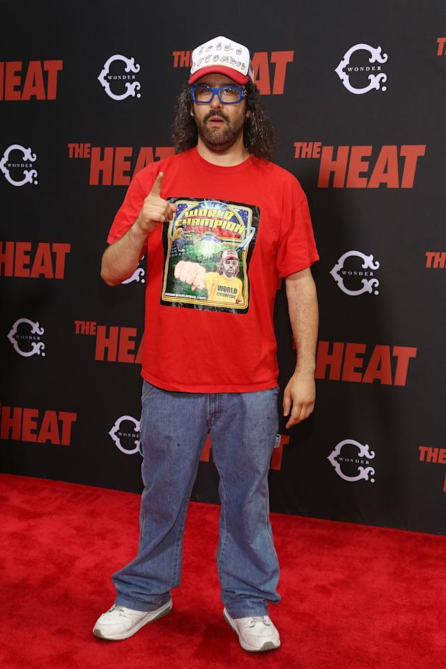 "NEW YORK, NY - JUNE 23: Judah Friedlander attends ""The Heat"" New York Premiere at Ziegfeld Theatre on June 23, 2013 in New York City. (Photo by Astrid Stawiarz/Getty Images)"