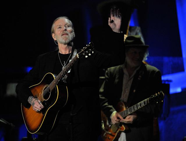 <p>Greg Allman, winner of the 2011 Americana Lifetime Achievement Performer Award, performs at the Americana Music Association awards show on Thursday, Oct. 13, 2011, in Nashville, Tenn. (AP Photo/Joe Howell) </p>
