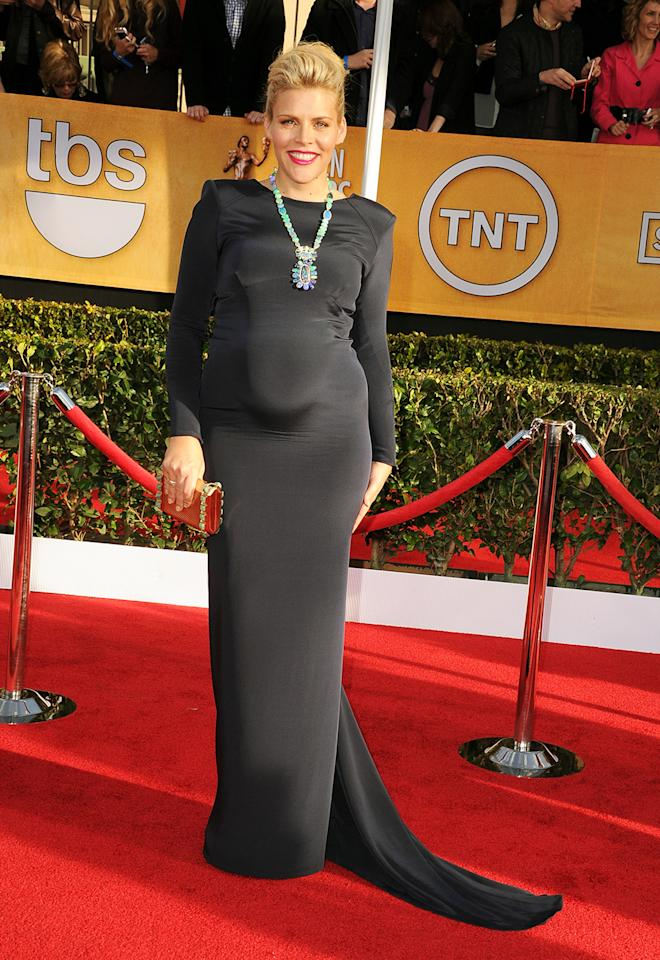 Busy Philipps arrives at the 19th Annual Screen Actors Guild Awards at the Shrine Auditorium in Los Angeles, CA on January 27, 2013.