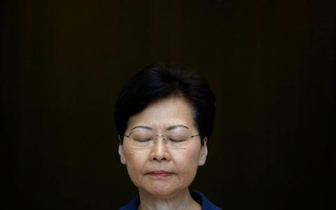 <span>Carrie Lam defended the conduct of police in 'extremely difficult circumstances'</span> <span>Credit: Reuters </span>