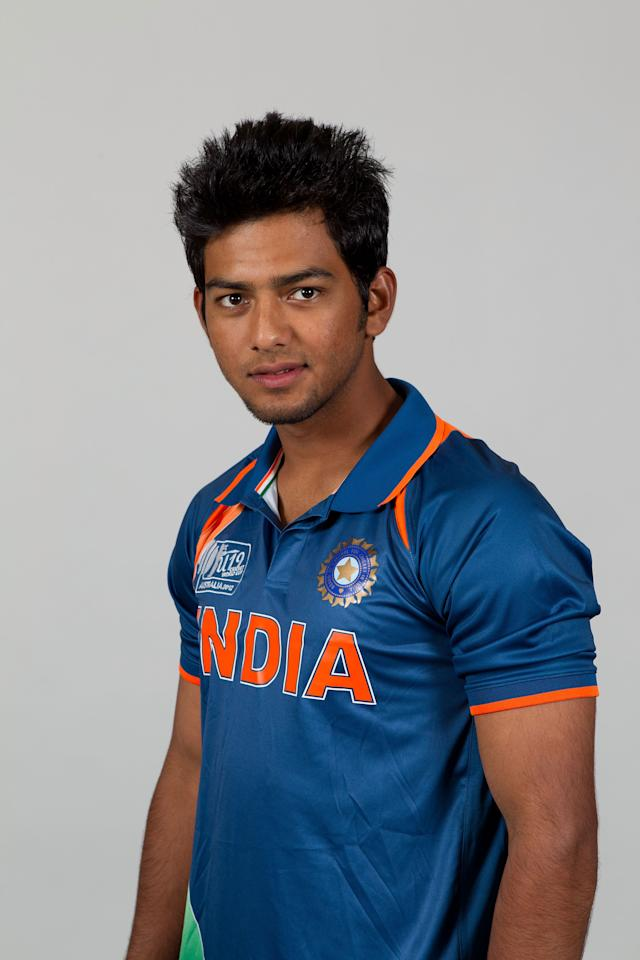BRISBANE, AUSTRALIA - AUGUST 06:  Unmukt Chand of India poses during a ICC U19 Cricket World Cup 2012 portrait session at Allan Border Field on August 6, 2012 in Brisbane, Australia.  (Photo by Matt King-ICC/Getty Images)