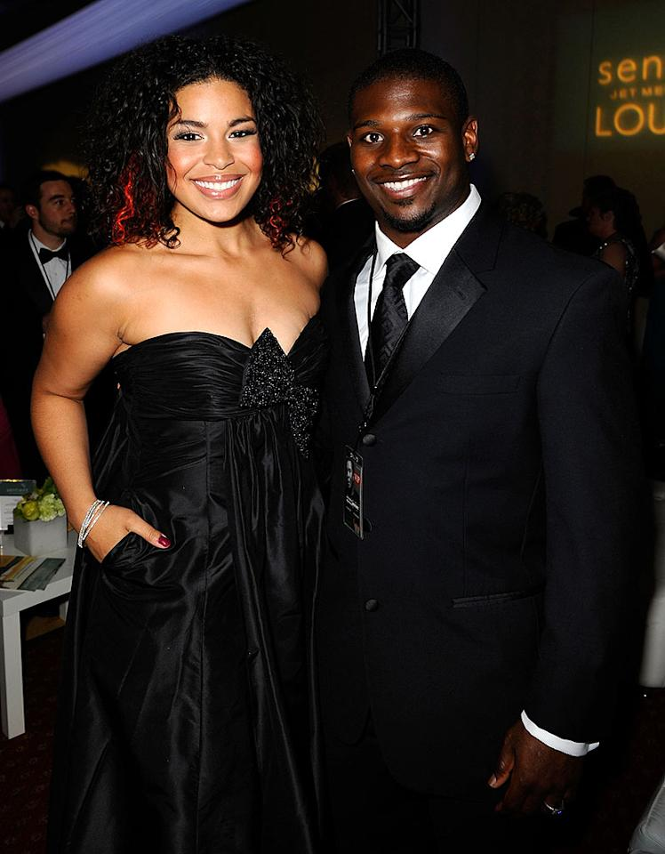 """Jordin Sparks and LaDainian Tomlinson flash their pearly whites. At 5'11"""", the reigning """"American Idol"""" champion is an inch taller than the San Diego Chargers running back. Michael Caulfield/<a href=""""http://www.wireimage.com"""" target=""""new"""">WireImage.com</a> - April 5, 2008"""