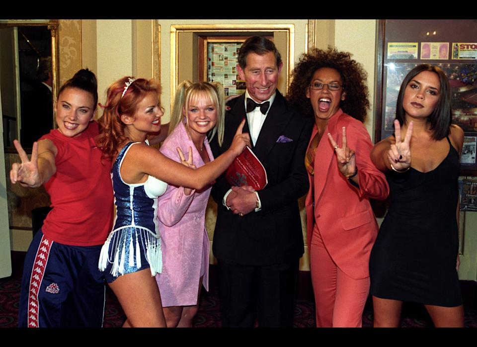 <strong>1997</strong>  Prince of Wales & Spice Girls at the Royal Gala
