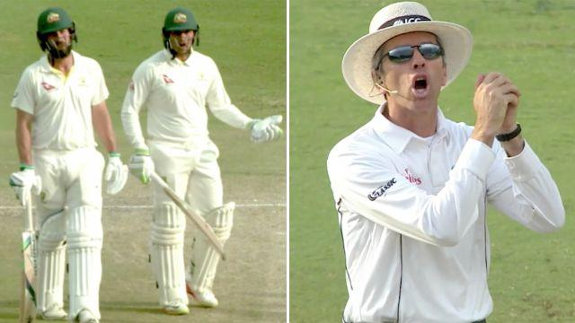 Burns and Khawaja were not impressed. Image: Fox Sports