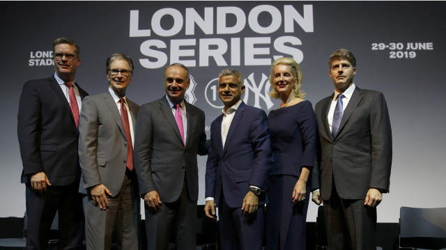 The Yankees and Red Sox will play in London in 2019. (AP Photo/Alastair Grant)