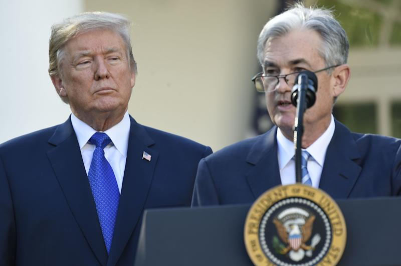 Jerome Powell speaks on Nov. 2, 2017, after being nominated for chairman of the Federal Reserve by President Donald Trump. (SAUL LOEB via Getty Images)