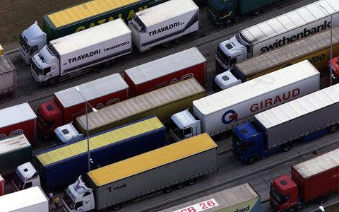 Lorries queuing at the port of Dover - Credit: Stephen Hird