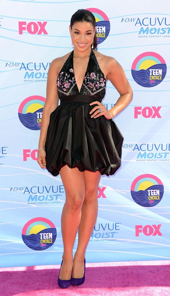 Singer Jordin Sparks arrives at the 2012 Teen Choice Awards at Gibson Amphitheatre on July 22, 2012 in Universal City, California.