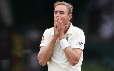 Stuart Broad reacts - Credit: Reuters