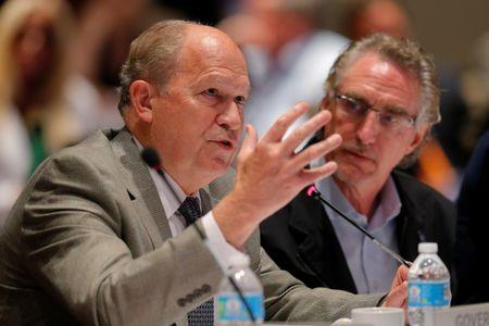 """Alaska Governor Bill Walker speaks at the """"Curbing the Opioid Epidemic"""" session at the National Governors Association summer meeting in Providence"""