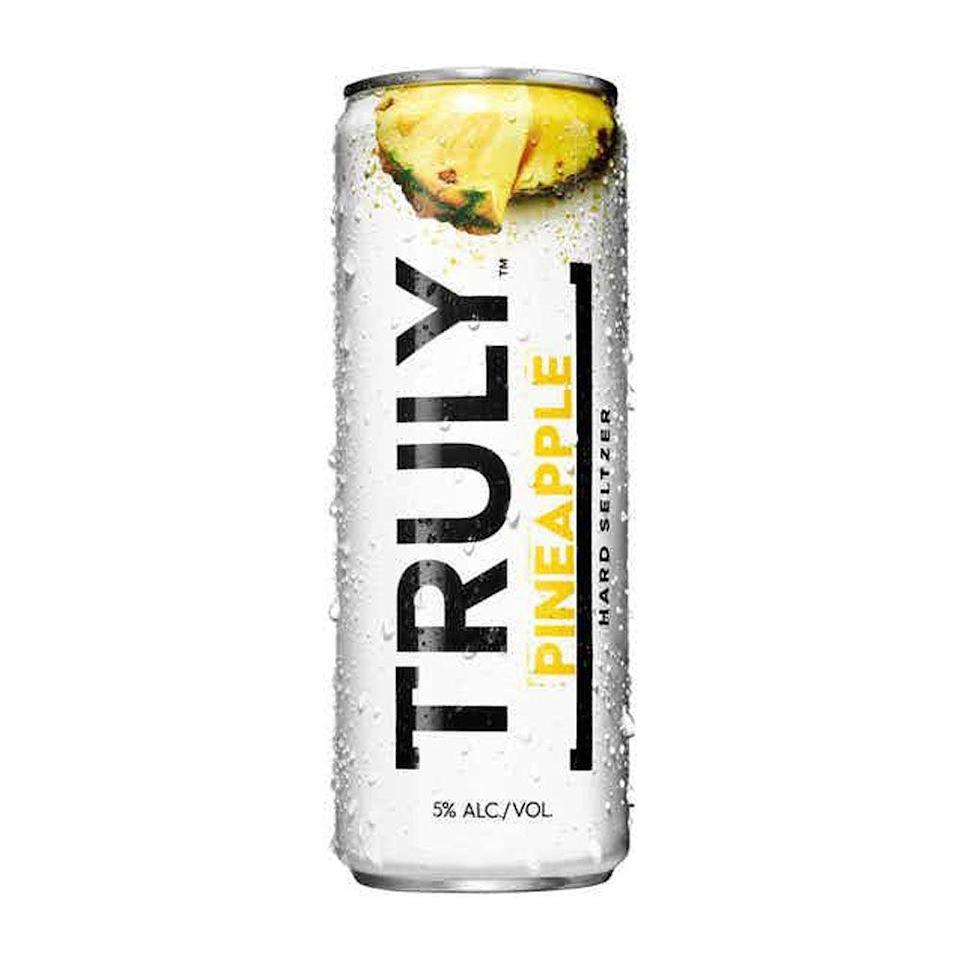 """<p>drizly.com</p><p><a href=""""https://go.redirectingat.com?id=74968X1596630&url=https%3A%2F%2Fdrizly.com%2Fbeer%2Fspecialty-beer-alternatives%2Fhard-seltzer%2Ftruly-hard-seltzer-pineapple-spiked-and-sparkling-water%2Fp96872&sref=https%3A%2F%2Fwww.cosmopolitan.com%2Ffood-cocktails%2Fg36596713%2Fbest-hard-seltzers%2F"""" rel=""""nofollow noopener"""" target=""""_blank"""" data-ylk=""""slk:BUY IT HERE"""" class=""""link rapid-noclick-resp"""">BUY IT HERE</a></p><p>Truly has a tendency to turn up the sweetness factor with some of its other flavors, but their vibrant and juicy take on pineapple is just right. <br><br><strong>Crushability:</strong> 4<br><strong>Craveability:</strong> 3.5<strong><br>Creativity: </strong>2.5<strong><br>Overall: </strong>10<br><strong><br>Calories:</strong> 100<strong><br>Sugar:</strong> 1g<strong><br>ABV:</strong> 5%</p>"""