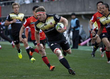 FILE PHOTO - Rugby Union - Sunwolves v Lions - Super Rugby - Prince Chichibu Memorial Stadium - 27/2/16. Lions' Jaco Kriel runs to score a try against Sunwolves. REUTERS/Toru Hanai