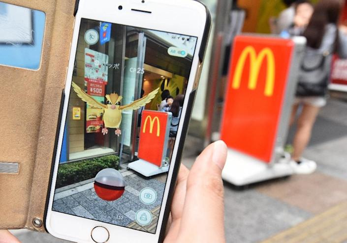 Pokemon Go launched in Japan with fast food giant McDonald's sponsoring in-game locations (AFP Photo/Toru Yamanaka)