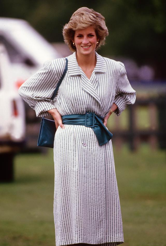 <p>A slightly more pared-down look still highlights Diana's figure. (Photo: David Levenson/Getty Images) </p>