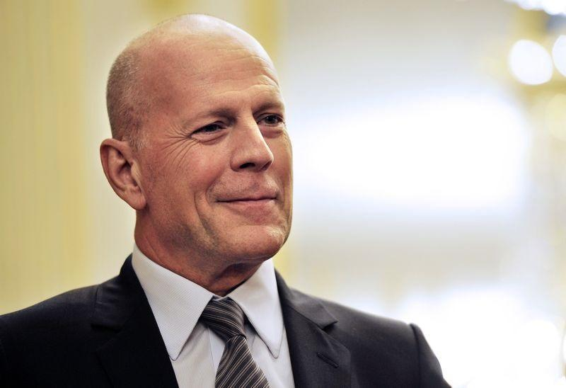 Bruce Willis later described his decision not to wear a mask as an 'error in judgement.' — AFP pic