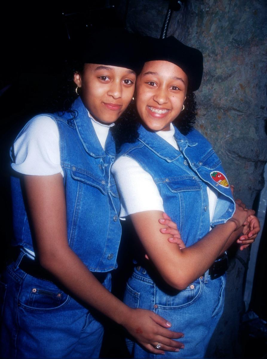 In addition to acting together in movies and TV, the Mowry sisters were also in a pop/R&B group called Voices. They only released one album, back in 1992, but real fame was still ahead for these twins.