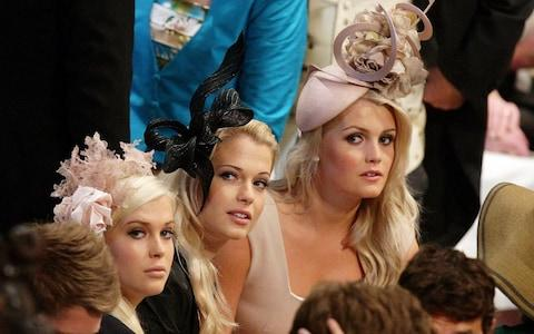 The daughters of Earl Spencer at the Royal wedding of William and Kate, 2011 - Credit: Dave Thompson/AFP/Getty Images