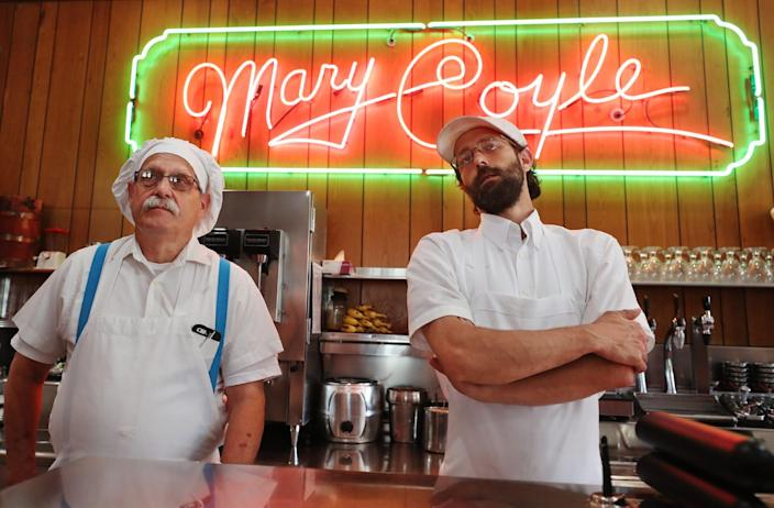 Michael Trecaso and his son, Michael Trecaso II talks about the labor issues they face at Michael TrecasoÕs Mary Coyle in Highland Square in Akron on Wednesday June 9, 2021.