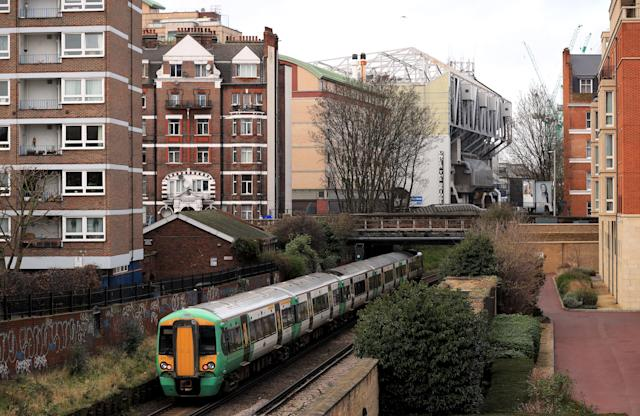 Wrong side of the tracks: The train line dividing Stamford Cottages and the stadium