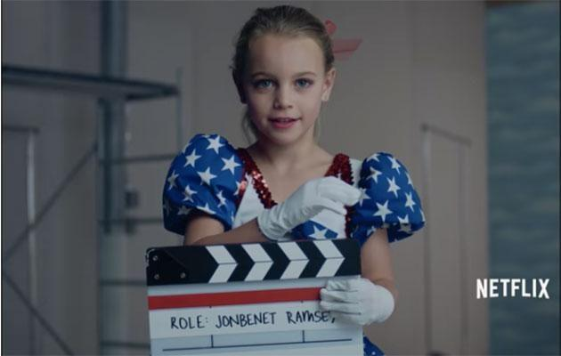 This little girl is auditioning for the role of JonBenet. Photo: Netflix